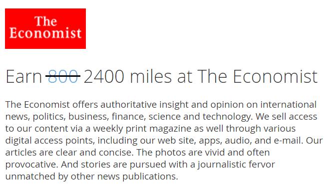 聯合航空 UA 經濟學人 雜誌 哩程